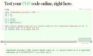 Počítáme s PHP přímo v prohlížeči