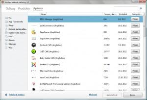 Nabídka nejrůznějších webových aplikací, například CMS