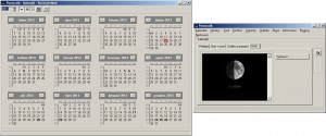 Roční kalendář se svátky i aktuální fáze měsíce