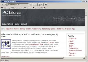 MaxiWeb je základním, avšak použitelným webovým prohlížečem