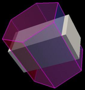 Využití barevného prostoru RGB-alpha pro simulaci průniků těles.