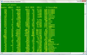 Výpis běžících procesů v systému Windows