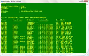 Výpis instalovaných aktualizací v systému včetně uživatele a času instalace