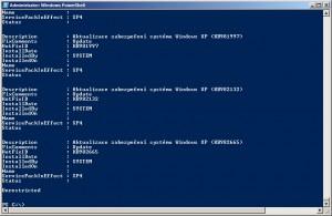 Spuštěný námi uložený skript v klasickém rozhraní PowerShell