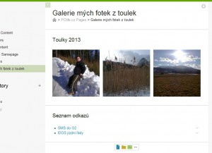 Obrázková galerie a komponenta s odkazy