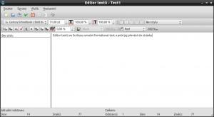 K editaci textů a formátování má Scribus samostatný editor