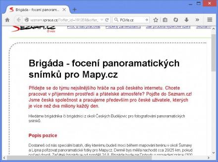 Brigáda u Seznamu (pro Mapy.cz)