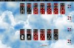 Zajímavé inverzní karty s pozadím textury oblak