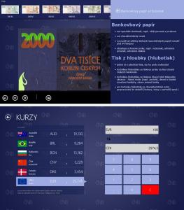 Verze pro tablety s Windows 8 umí to co mobilní, navíc s kalkulačkou a kurzy měn