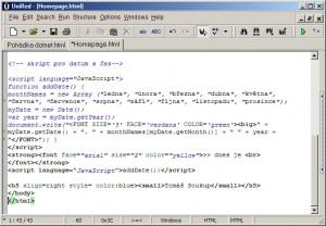 Zvýraznění syntaxe je jedním z prvků programátorských editorů