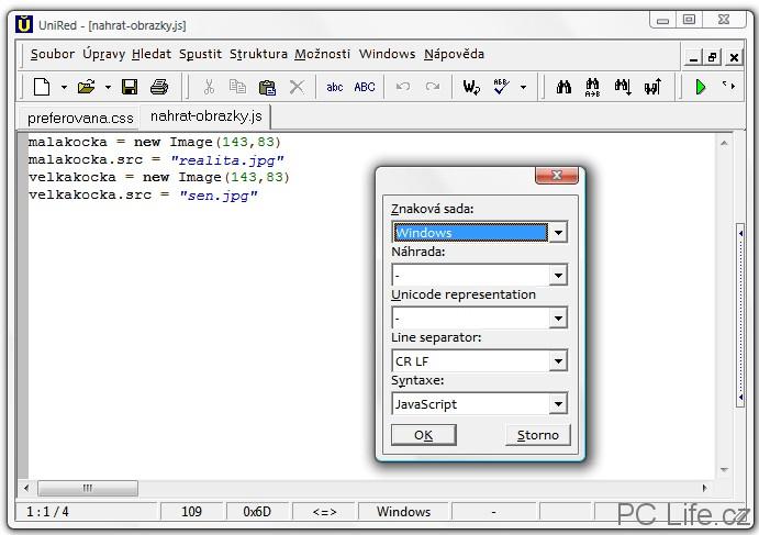 Zvýraznění syntaxe pro JavaScript kód