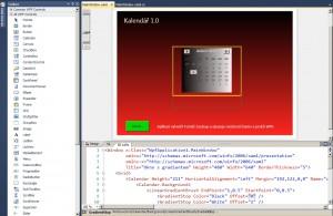 Vizuální návrh WPF aplikací s možnosti editace XAML kódu
