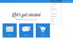 Obecný web, blog nebo e-shop a možnost výběru stylů a barev