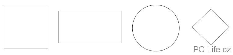Základní nakreslené tvary