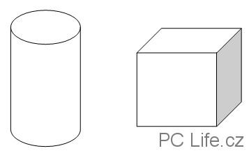 Základní 3D tvary (objemová primitiva)