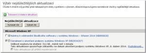 Na ukončení podpory Windows XP bude upozorňovat aktualizace