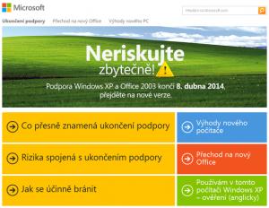 S Windows XP končí také podpora Office 2003