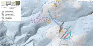 Zimní mapa zobrazuje sjezdovky i trasy pro běžky